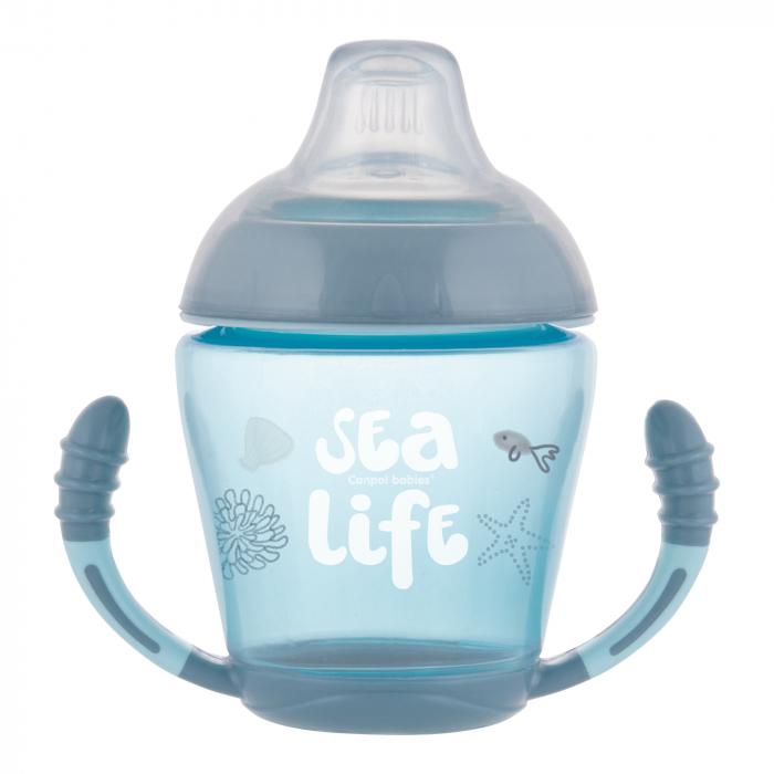 """Canita anti-varsare """"Sea Life"""", Canpol babies®, 230 ml, gri/bleu 0"""