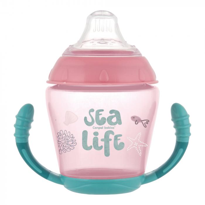 "Canita anti-varsare ""Sea Life"", Canpol babies®, 230 ml, roz [0]"