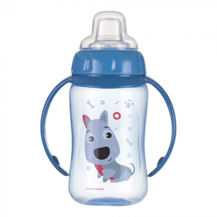 "Canita antrenament ""Cute Animals"", Canpol babies®, 320 ml, albastru 0"