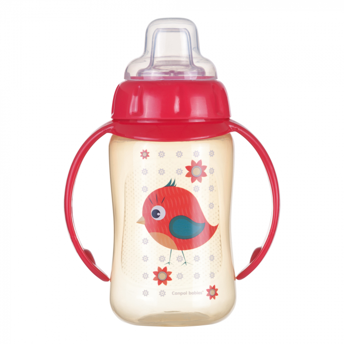 "Canita antrenament ""Cute Animals"", Canpol babies®, 320 ml, rosu [0]"