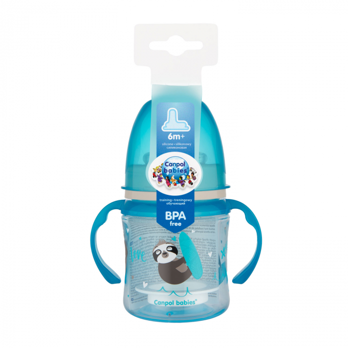 "Canita antrenament ""Exotic Animals"", Canpol babies®, 120 ml, bleu [2]"