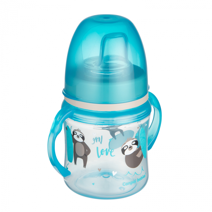 "Canita antrenament ""Exotic Animals"", Canpol babies®, 120 ml, bleu [0]"