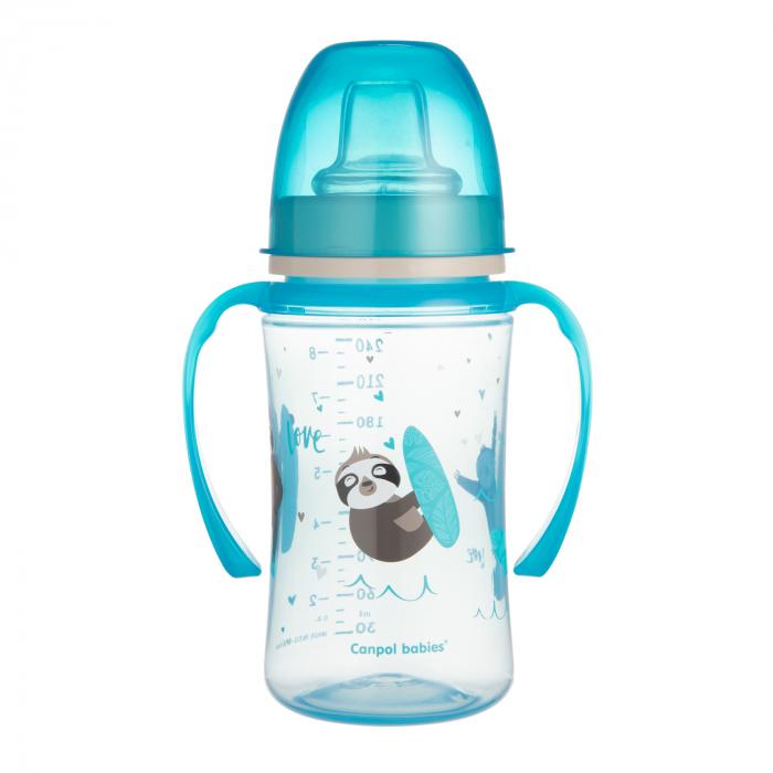 "Canita antrenament ""Exotic Animals"", Canpol babies®, 240 ml, albastru [1]"