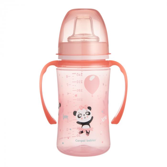"Canita antrenament ""Exotic Animals"", Canpol babies®, 240 ml, roz [1]"