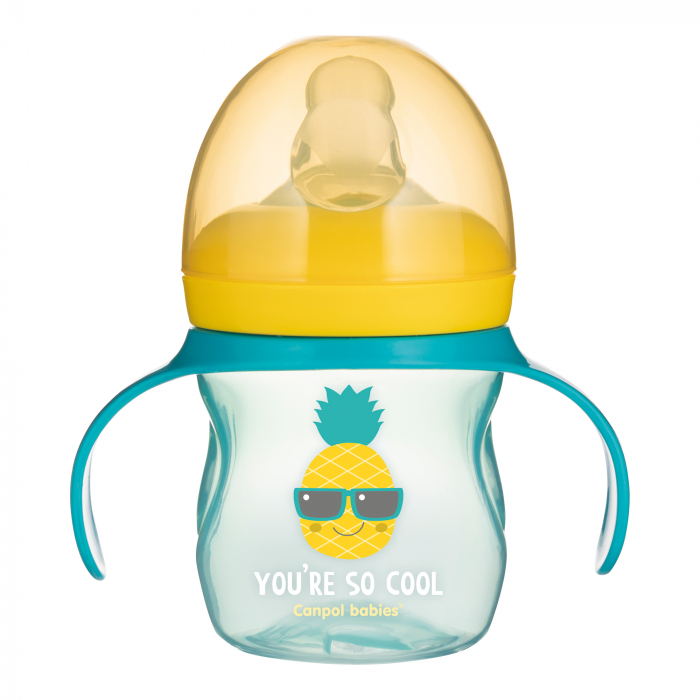 """Canita antrenament """"So Cool"""", Canpol babies®, 150 ml, galben [0]"""