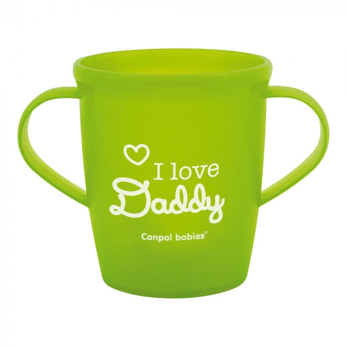 "Canita ""I love Daddy"", Canpol babies®, fara BPA, 250 ml, verde 0"
