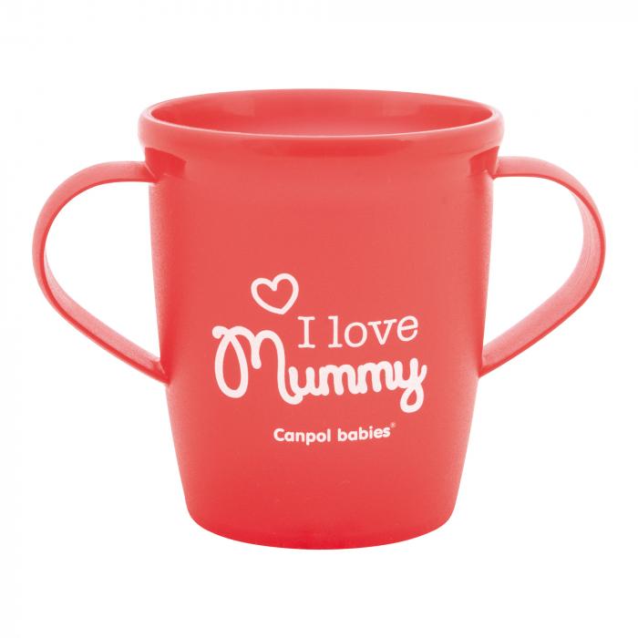 """Canita """"I love Mummy"""", Canpol babies®, fara BPA, 250 ml, rosu 0"""