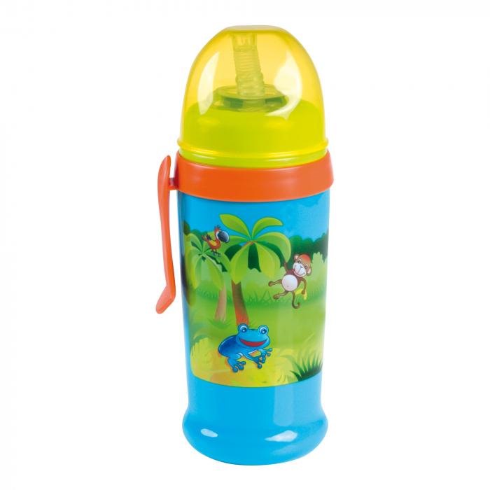 """Canita sport """"Continents"""" cu pai, Canpol babies®, fara BPA, 350 ml, albastru [0]"""