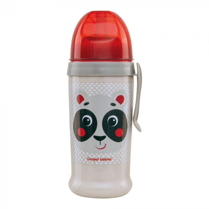 "Canita sport ""Hello Little!"" cu pai, Canpol babies®, fara BPA, 350 ml, bej [0]"