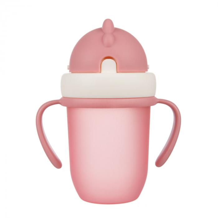 "Canita sport ""Matte Pastels"" cu pai retractabil, Canpol babies®, fara BPA, 210 ml, roz [0]"