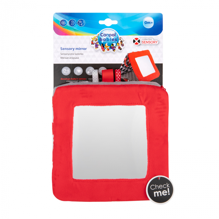 """Carte educativa cu oglinda """"Sensory Toys"""", 0 luni +, multicolor 8"""
