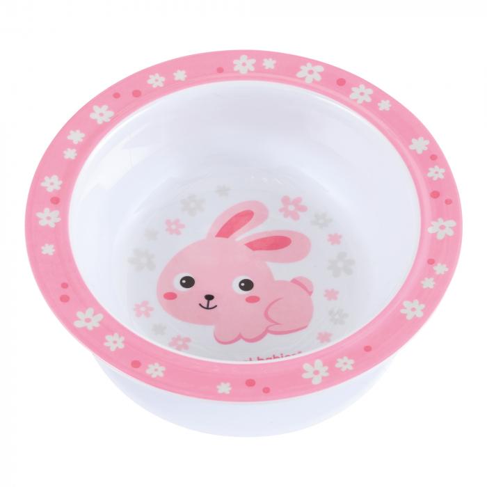 "Castron ""Bunny & Company"", Canpol babies®, 270 ml, fara BPA, iepuras 0"