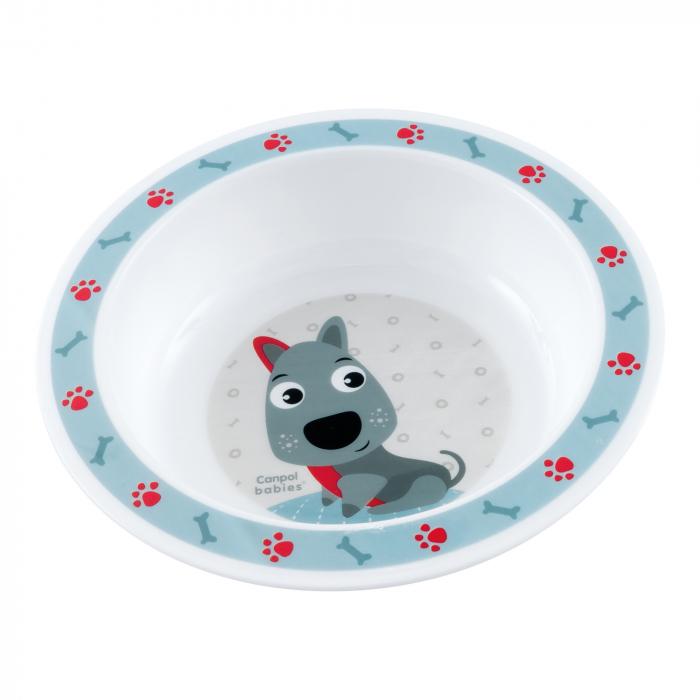 "Castron ""Cute Animals"", Canpol babies®, 270 ml, fara BPA, catelus [0]"