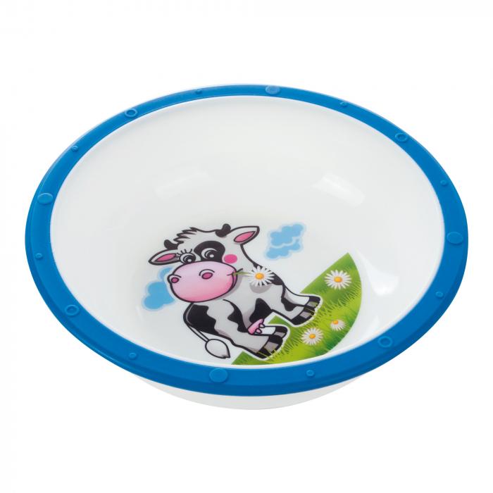 "Castron ""Vacuta"", Canpol babies®, 270 ml, fara BPA, albastru [0]"