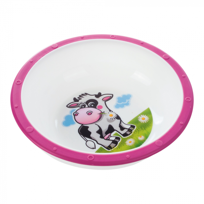 "Castron ""Vacuta"", Canpol babies®, 270 ml, fara BPA, roz [0]"