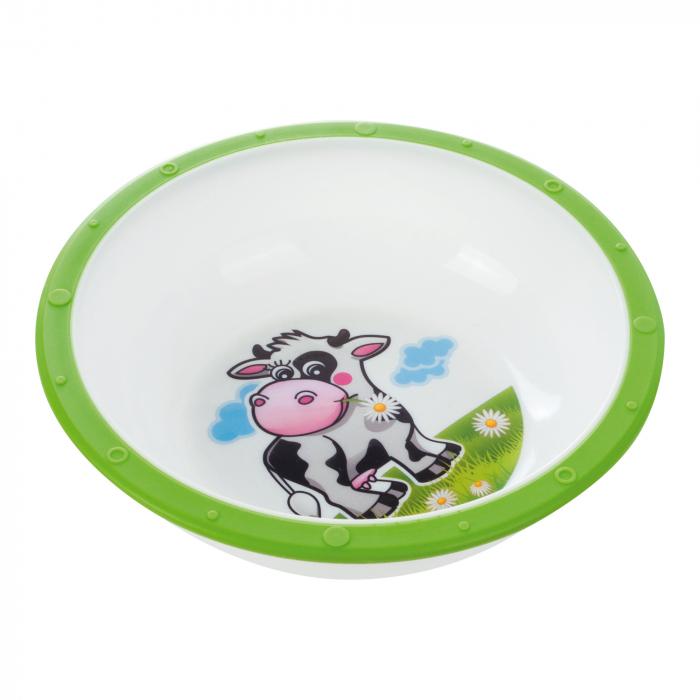 "Castron ""Vacuta"", Canpol babies®, 270 ml, fara BPA, verde [0]"