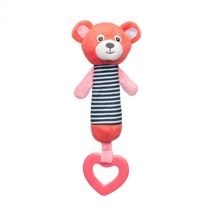 """Jucarie din plus """"Bears"""" cu inel gingival si chitaitoare, 0 luni + [0]"""
