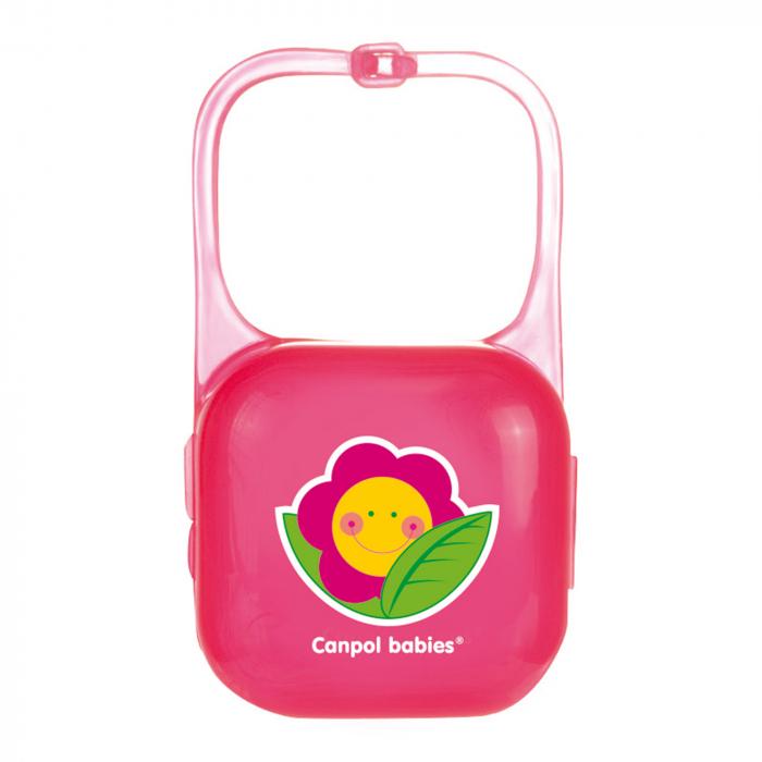 """Cutie suzeta """"Happy Garden"""", Canpol babies®, fara BPA, roz 0"""