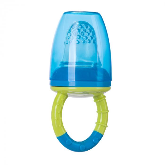 Dispozitiv de hranire pentru introducerea primelor fructe si legume, Canpol babies®, fara BPA, albastru/galben 1