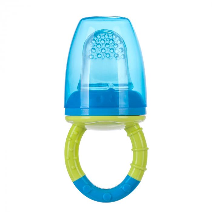 Dispozitiv de hranire pentru introducerea primelor fructe si legume, Canpol babies®, fara BPA, albastru/galben 4