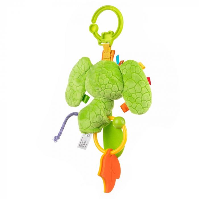 Elefantica Eva, Bali Bazoo, jucarie din plus cu sunatoare, parti moi si fosnaitoare, multicolora 3