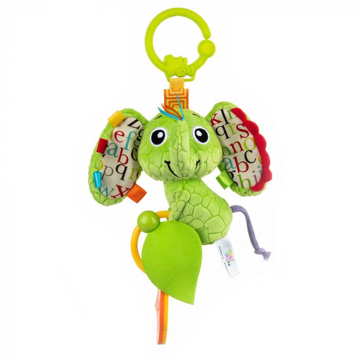 Elefantica Eva, Bali Bazoo, jucarie din plus cu sunatoare, parti moi si fosnaitoare, multicolora 0