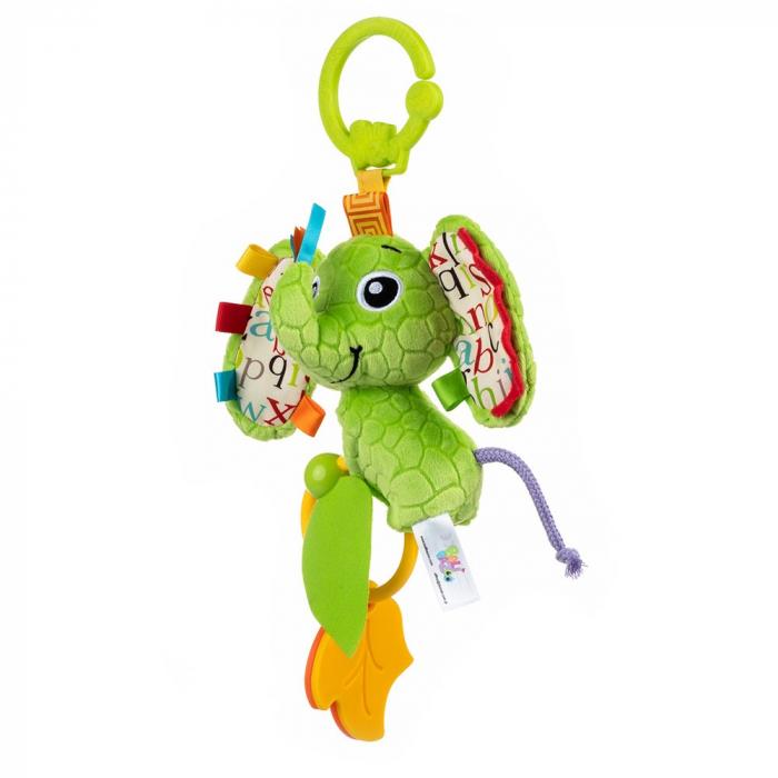 Elefantica Eva, Bali Bazoo, jucarie din plus cu sunatoare, parti moi si fosnaitoare, multicolora 1