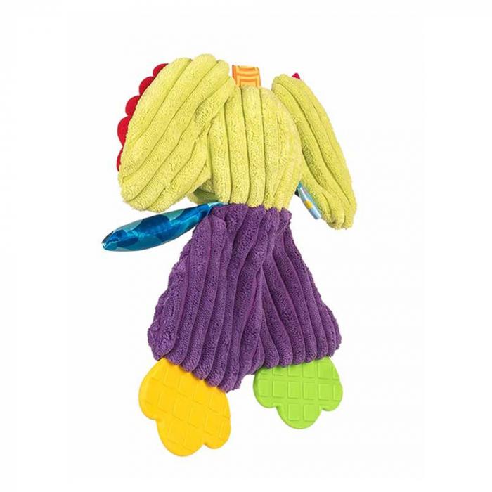 Elefantul Emil, Bali Bazoo, Jucarie din plus cu parti moi si fosnaitoare, multicolora 1