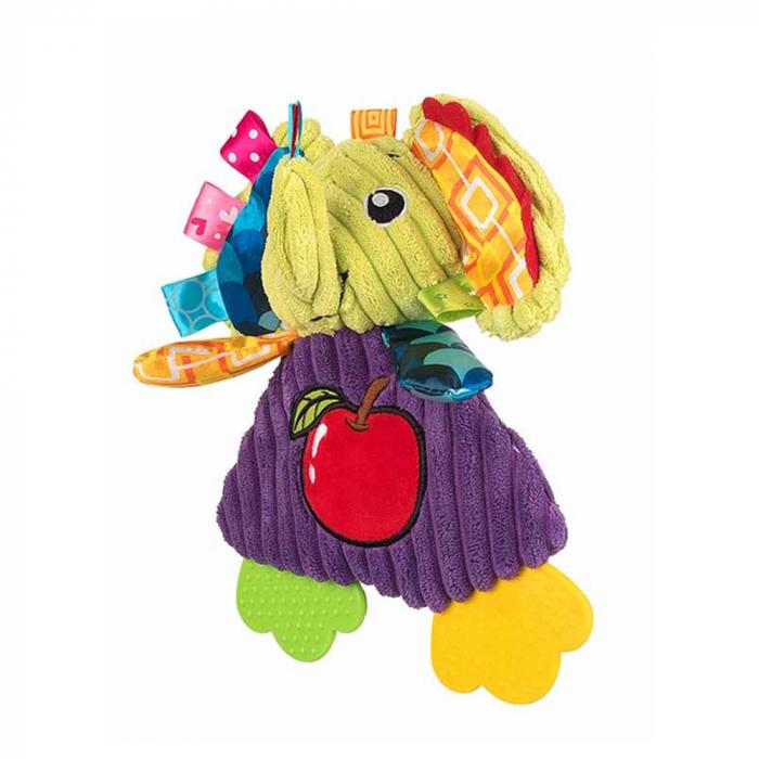 Elefantul Emil, Bali Bazoo, Jucarie din plus cu parti moi si fosnaitoare, multicolora 2