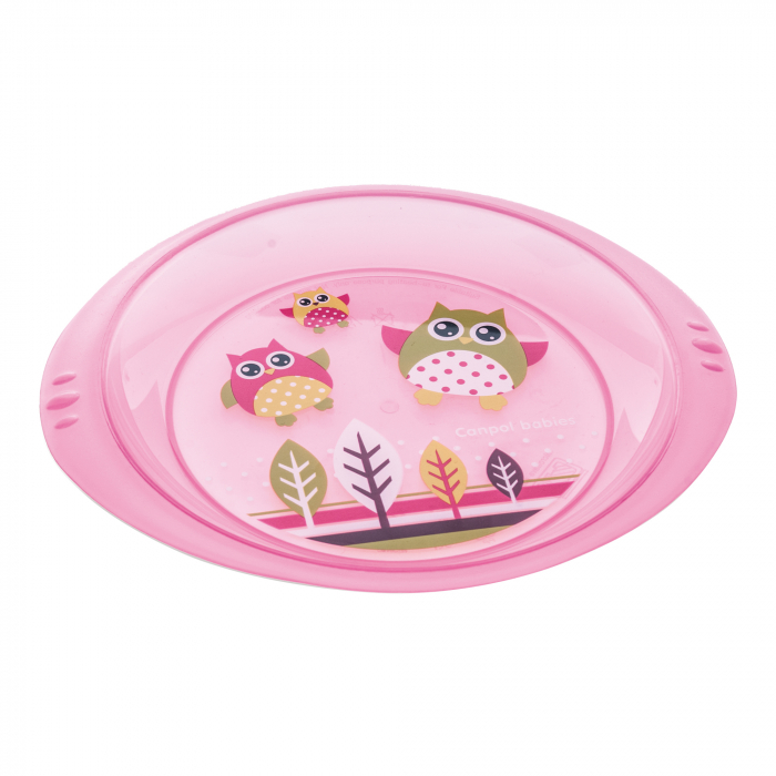 "Farfurie ""Bufnita"", Canpol babies®, fara BPA, roz [0]"