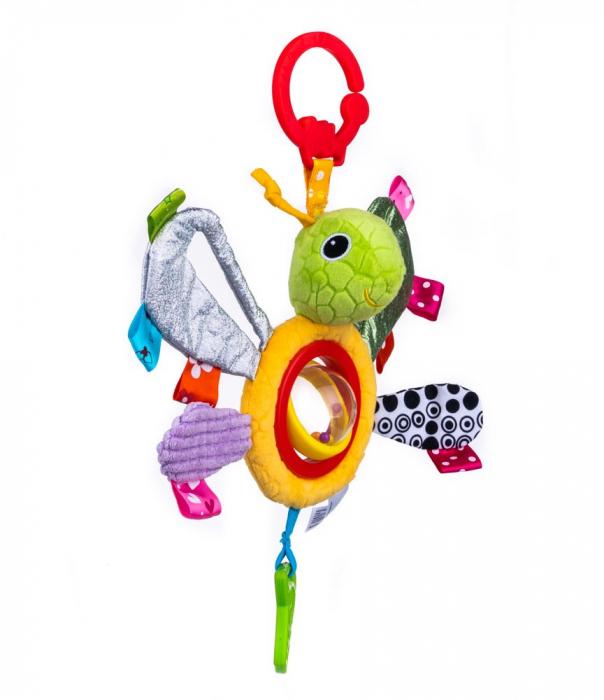Fluturasul Lulu, Bali Bazoo, jucarie din plus cu sunatoare si fosnaitoare, multicolor 4