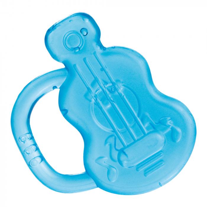 "Inel gingival ""Chitara"", Canpol babies®, fara BPA, albastru 0"
