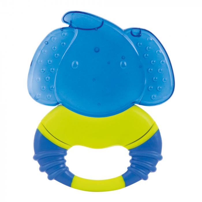 "Inel gingival cu gel ""Safari"", Canpol babies®, fara BPA, elefant, albastru 0"