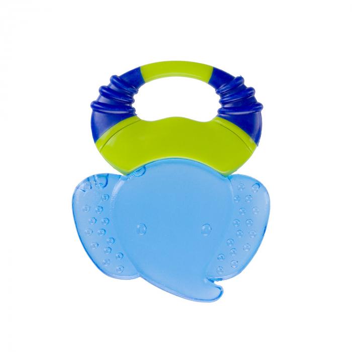 "Inel gingival cu gel ""Safari"", Canpol babies®, fara BPA, elefant, albastru 1"