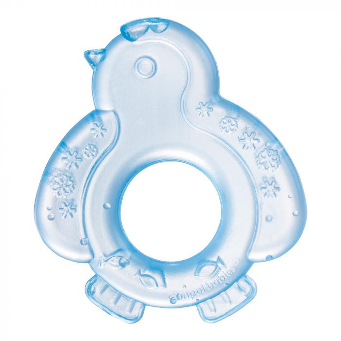 "Inel gingival ""Pinguin"", Canpol babies®, fara BPA, albastru 0"