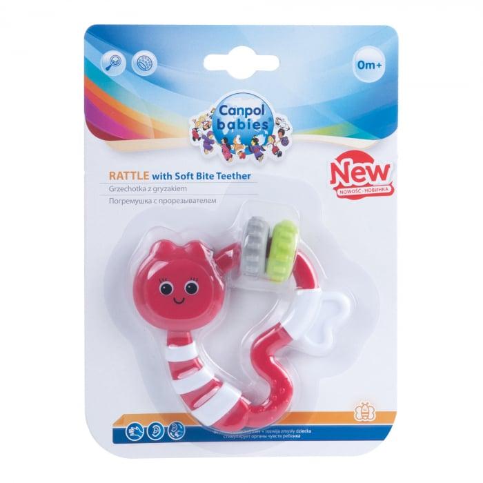 Jucarie dentitie cu sunatoare, Canpol babies®, fara BPA, multicolor 1