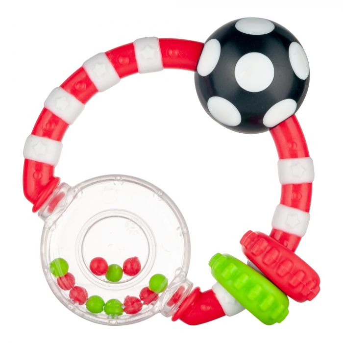 """Jucarie dentitie cu sunatoare """"Margelute"""", Canpol babies®, fara BPA, multicolor [0]"""