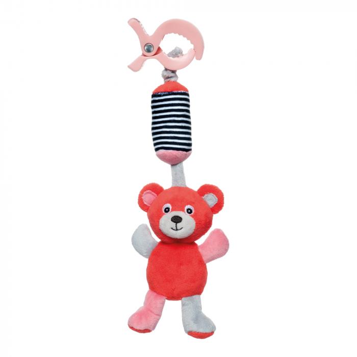 "Jucarie din plus ""Bears"", Canpol babies®, clopotel, rosu coral [0]"
