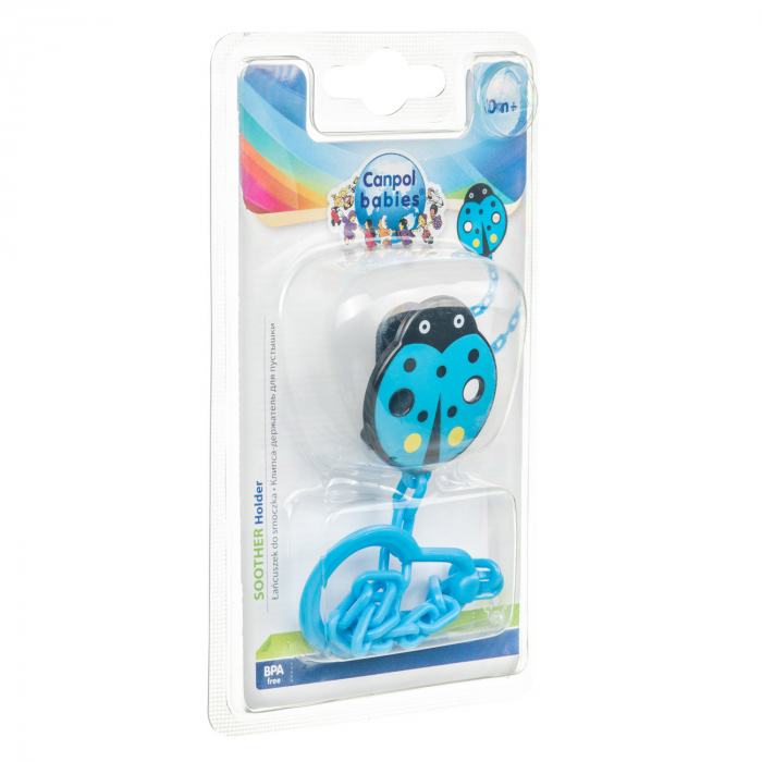 """Lant suzeta """"Gargarita"""", Canpol babies®, fara BPA, albastru [1]"""