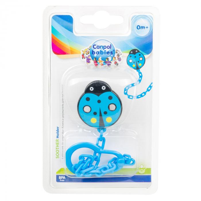 """Lant suzeta """"Gargarita"""", Canpol babies®, fara BPA, albastru [2]"""