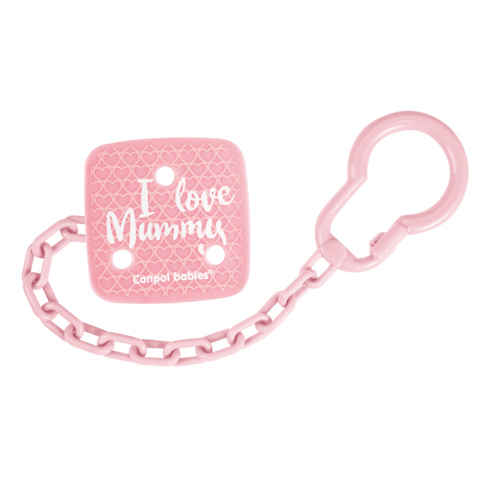 "Lant suzeta ""I Love Mummy"", Canpol babies®, fara BPA [0]"