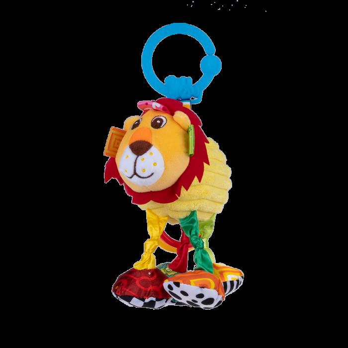 Leul Leon, Bali Bazoo, jucarie din plus cu vibratii, inele, fosnaitoare si chitaitoare, multicolora 0