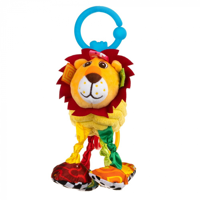 Leul Leon, Bali Bazoo, jucarie din plus cu vibratii, inele, fosnaitoare si chitaitoare, multicolora 4