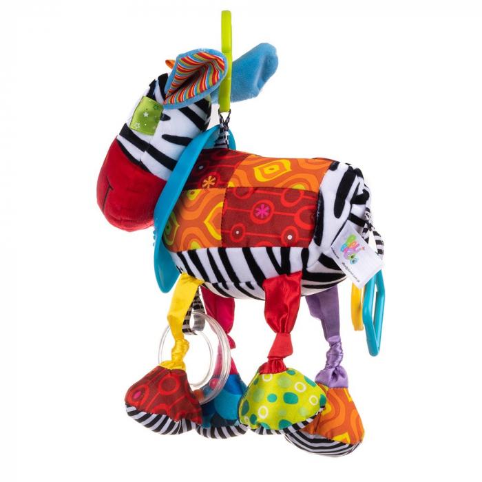 Magarusul Dave, Bali Bazoo, jucarie din plus cu inele si fosnaitoare, multicolora 1