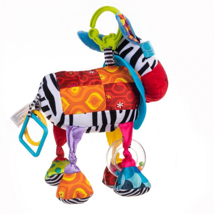 Magarusul Dave, Bali Bazoo, jucarie din plus cu inele si fosnaitoare, multicolora 3