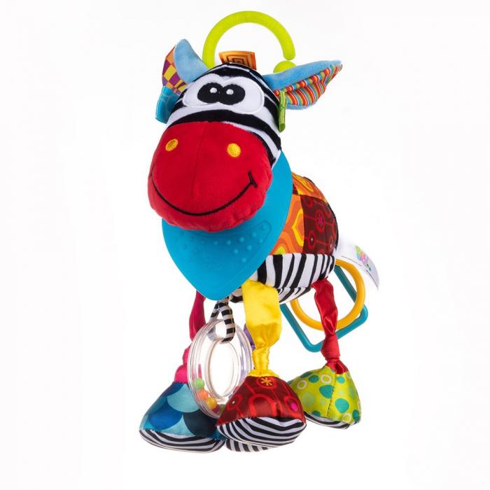 Magarusul Dave, Bali Bazoo, jucarie din plus cu inele si fosnaitoare, multicolora 4