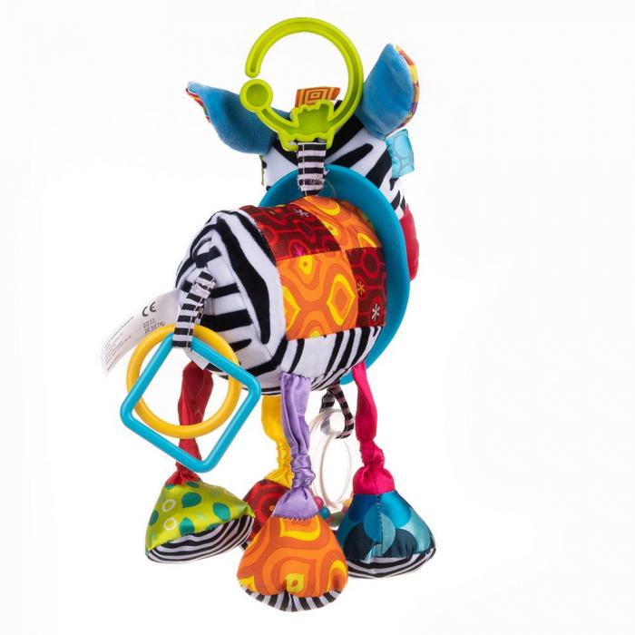 Magarusul Dave, Bali Bazoo, jucarie din plus cu inele si fosnaitoare, multicolora 2