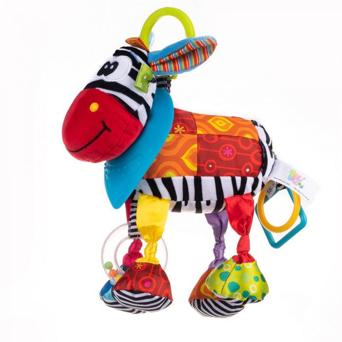 Magarusul Dave, Bali Bazoo, jucarie din plus cu inele si fosnaitoare, multicolora 0