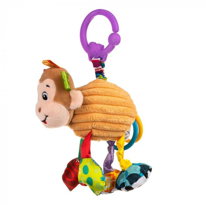 Maimutica Maggie, Bali Bazoo, jucarie din plus cu vibratii, inele, fosnaitoare si chitaitoare, multicolora 1