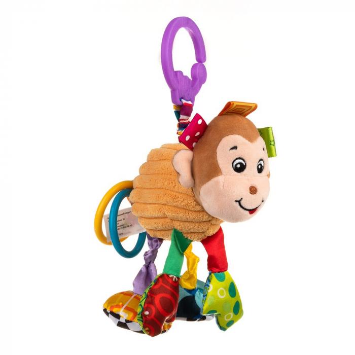 Maimutica Maggie, Bali Bazoo, jucarie din plus cu vibratii, inele, fosnaitoare si chitaitoare, multicolora 4